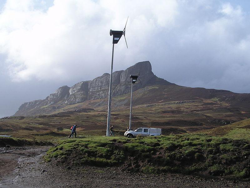 Вятърните турбини на острова
