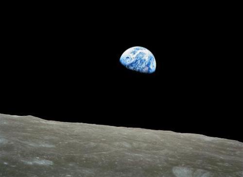 Първата снимка на Земята, направена от Луната.