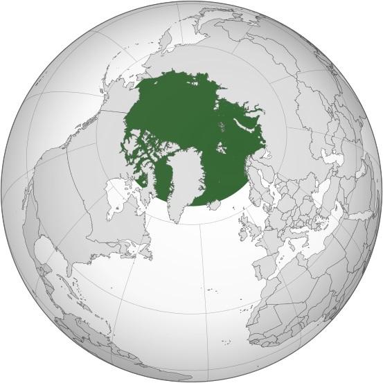 Карта на Арктика