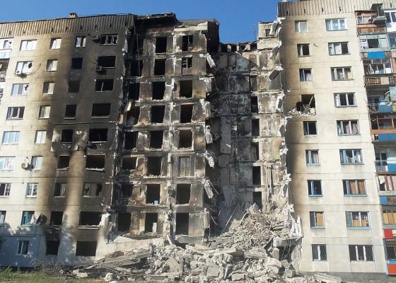 В руините на Луганск