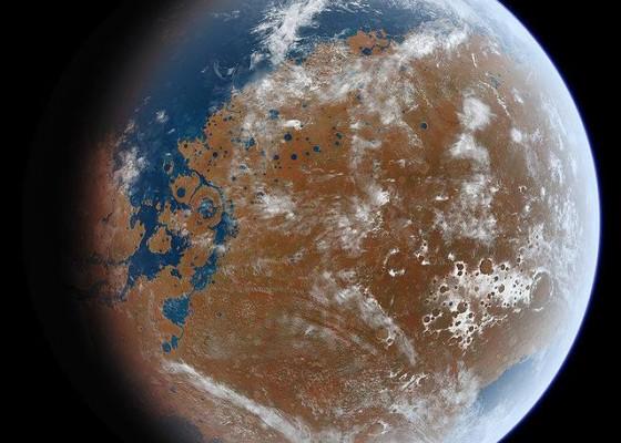 Хипотетичният северен океан на Марс